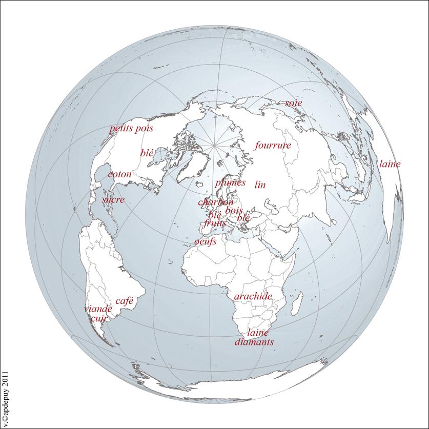 Géographie des matières premières