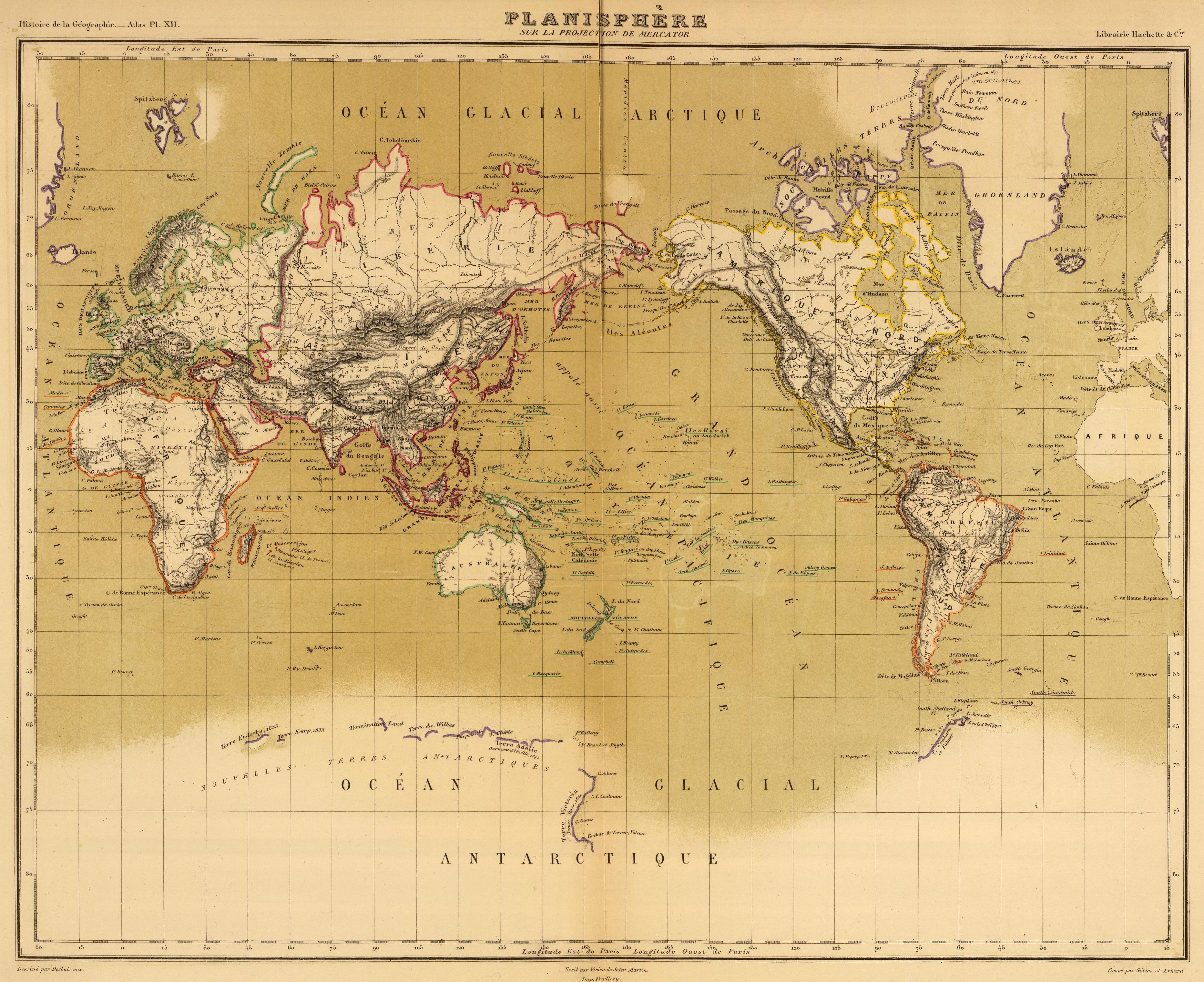 Vivien de Saint-Martin_1874_Planisphere