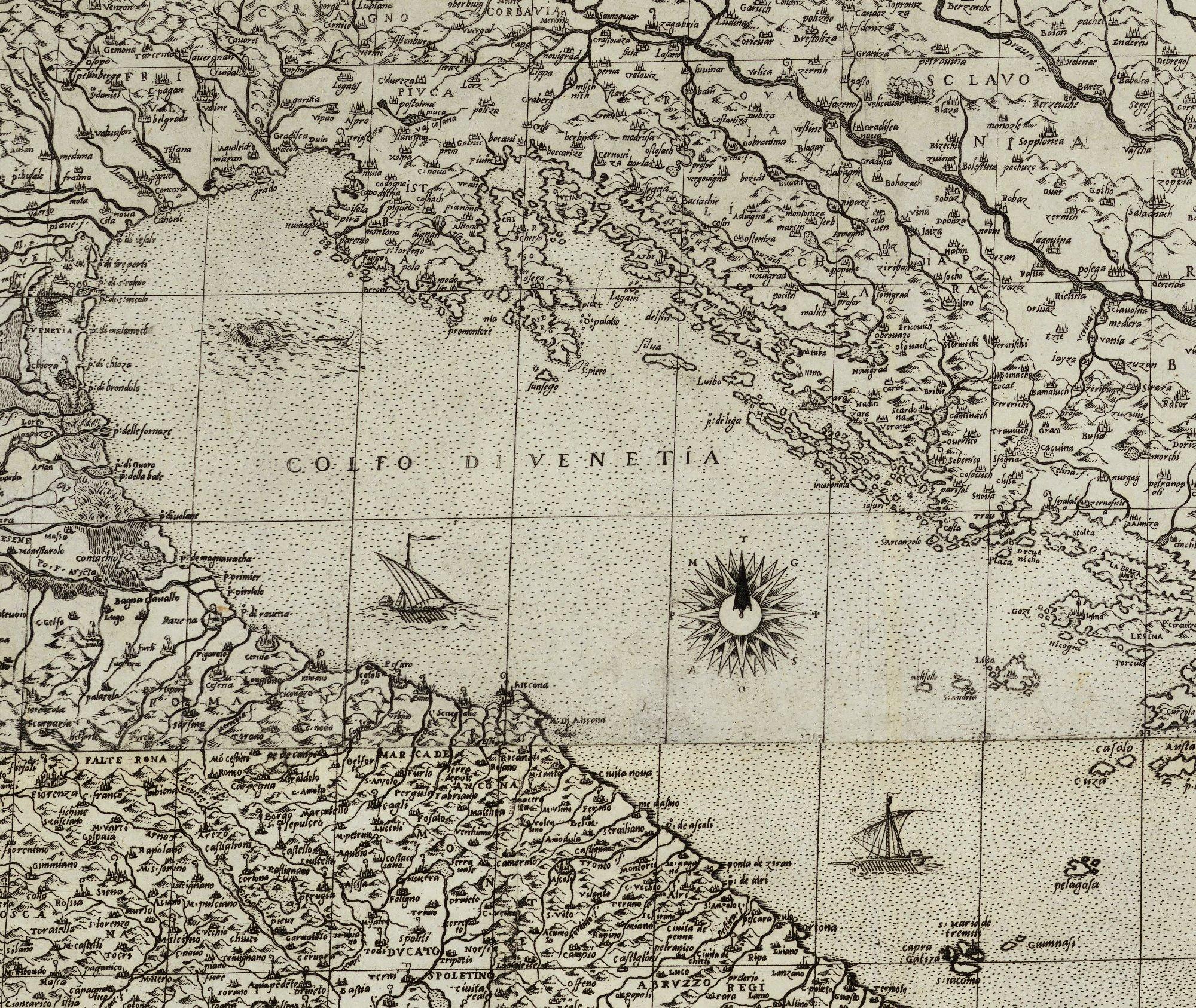 Gastaldi_1560_Golfe de Venise