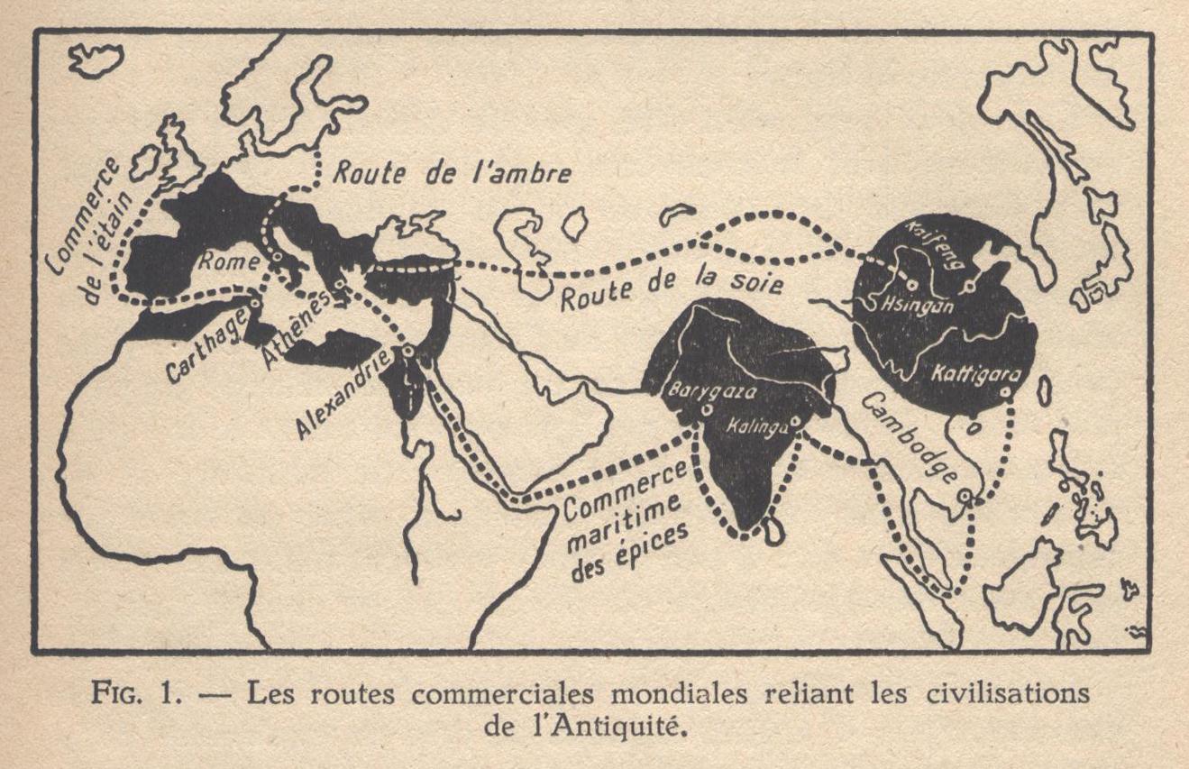 Les routes commerciales mondiales