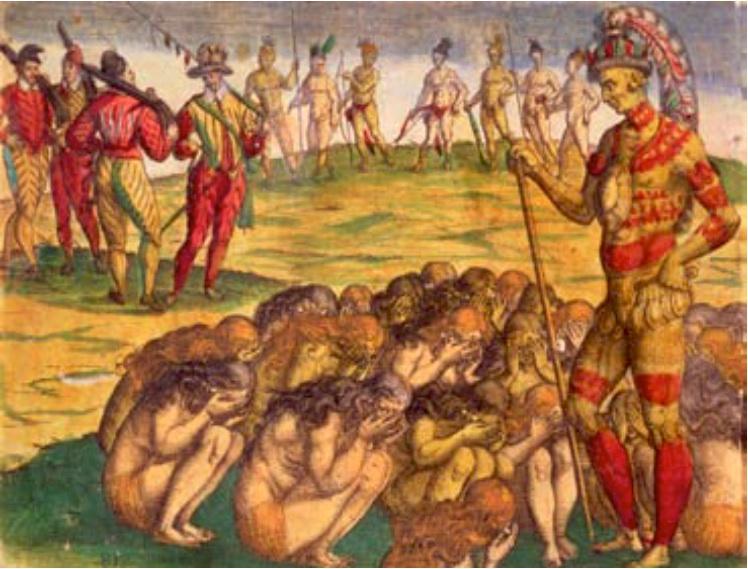 Fig 10 Aztèques capturés par les Espagnols