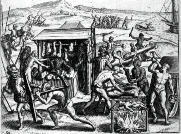 Fig 11 La boucherie de chair humaine